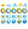 weather round icons vector image vector image