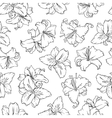 White lilies Seamless pattern vector image vector image