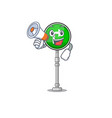 with megaphone turn right isolated in mascot vector image vector image