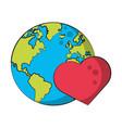 world map earth globe cartoon vector image vector image