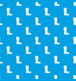 cowboy boot pattern seamless blue vector image