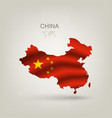 Flag of China as a country vector image
