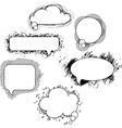 drawn speech bubbles Set vector image