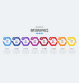8 steps timeline infographic template with arrows vector image