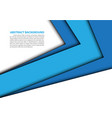 abstract blue arrow overlap white modern vector image vector image