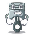 angry piston isolated in the cartoon shape vector image vector image
