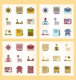 assembly flat shading style icon education school vector image vector image