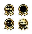 award ribbon best seller set vector image vector image