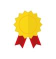 Award ribbon medal vector image vector image