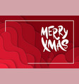 background with deep red color paper cut shapes vector image vector image