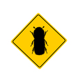 Bark beetle warning sign vector image vector image