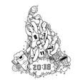 basketball championship hand drawn doodle vector image