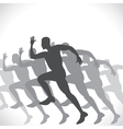 black men runner vector image vector image