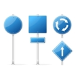 Blank Traffic Sign blue set vector image vector image