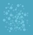 blue lights over blue background vector image