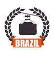 brazil cableway isolated icon vector image vector image