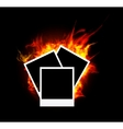 burning photo frame vector image vector image