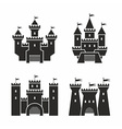 castle icons vector image vector image