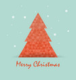 christmas postcard template with tree vector image vector image