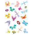 color vector butterflies set vector image