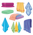 cotton fabric towel bathroom and kitchen vector image vector image