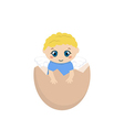 Cracked hens egg with baby inside vector image