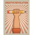 Creative revolution vector image vector image