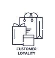 customer loyality line icon concept customer vector image vector image