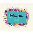 Education back to school social bubble global vector image vector image