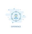 experience line concept simple line icon colored vector image vector image