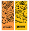 fast food restaurant menu card template set vector image vector image