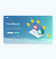 feedback or rating concept banner vector image