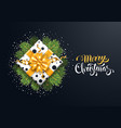 festive merry christmas greeting card vector image vector image