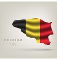 Flag of Belgium as a country vector image vector image
