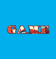 game concept word art vector image vector image