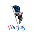happy fourth july hand lettering vector image