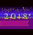 happy new year 2018 night beach vector image vector image