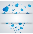 heart on a paper background vector image