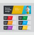 horizontal web banner templates with diagonal vector image