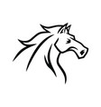 horse logo mascot line stylized drawing vector image vector image