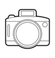 isolated camera icon vector image