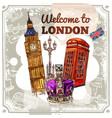 london sketch poster vector image vector image