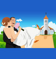 married young couple vector image vector image