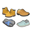 mens shoes for all seasons isolated vector image vector image