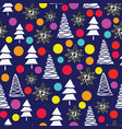 merry christmas tree background with pastel vector image