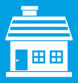one-storey house icon white vector image vector image