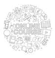 online course pattern vector image vector image