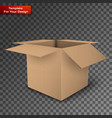 package box isolated on transparent background vector image vector image