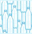plastic bottle pattern vector image