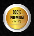 Premium quality label design vector image vector image